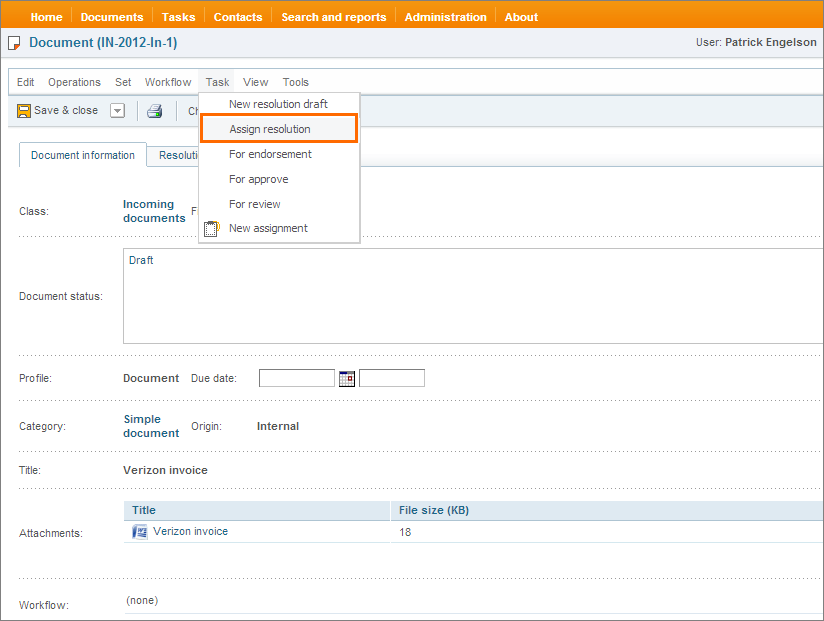 Resolution management in DocLogix