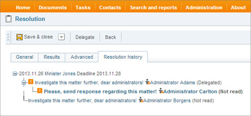 More convenient and even more transparent functionality for resolution management in DocLogix