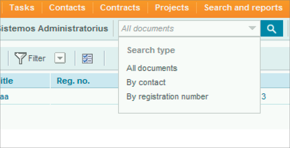 Search functionality in DocLogix