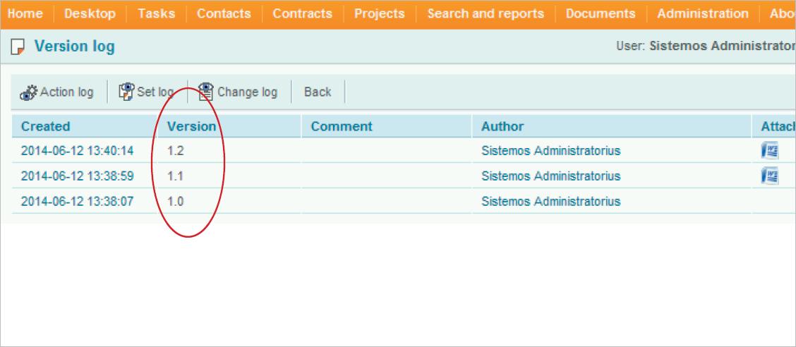 Document version control